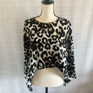 Staples Leopard Animal Print Top
